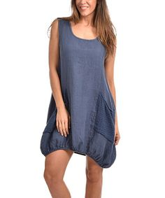 Another great find on #zulily! Indigo Blue Donna Linen Dress - Plus Too by Couleur Lin #zulilyfinds