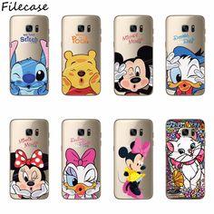 Filecase Mickey Minnie Funda de Silicona Para Samsung S6 S8 S6 S7 S7 S3 Borde Borde S4 S5 Nota 3 4 5 8 A3 A5 A7 J1 J3 J5 J7 2016 2017