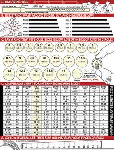 Diy Ring Sizer Ring Size Chart For Men Diy Jewlry