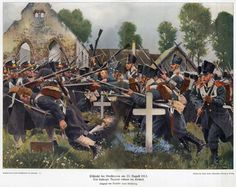 Assault on the Prussian regiment Kolberg - Battle Grosbeeren, 1813 (C. Röchling)