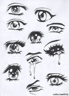 Easy Anime Drawing Eyes - Easy Anime Eyes To Draw Girl Anime Hair Sketches Drawings Easy Drawing Manga Eyes Part Ii Risovat Glaza Risovanie Glaza How To Draw Anime Eyes Step By. Manga Anime, Manga Eyes, Anime Art, Sad Anime, Anime Crying Eyes, Manga Art, Kawaii Anime, Manga Mouth, Manga Books