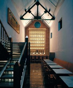 Aldo Rossi, Morris Adjmi Architects, Nacasa & Partners Inc. Japan Architecture, Contemporary Architecture, Architecture Details, Palazzo Hotel, Aldo Rossi, 1980s Design, Restaurant Bar, Stairs, Architects