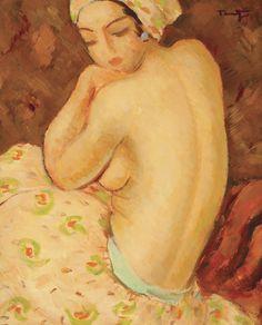 Afizé Nicolae Tonitza - by genre - nude painting (nu) Post Impressionism, Impressionist, Art Database, Illustrations, Life Drawing, Art Auction, Figure Painting, Female Art, Les Oeuvres