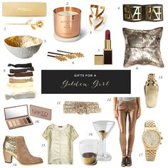 gift ideas for a girl who loves gold!