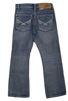 Axel Jeans Weston Relaxed Fit Bootcut Jeans for Men in Medium Wash AX41050-12