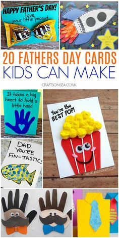 Kids Fathers Day Crafts, Fathers Day Art, Happy Fathers Day, Homemade Fathers Day Gifts, Dad Gifts, Kids Birthday Cards, Birthday Crafts, Diy For Kids, Crafts For Kids