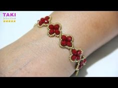 Takı Tasarımı-Basit Kristal Ve Kum Boncuklu Bileklik Yapılışı-ÖĞRETİCİ-DIY-DETAYLI VE SESLİ ANLATIM - YouTube Wire Jewelry, Beaded Jewelry, Jewelery, Diy Schmuck, Schmuck Design, Beaded Rings, Beaded Bracelets, Bracelet Making, Jewelry Making