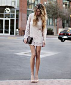 A lovely lace dress. Simplicity always wins. Look by Jennifer B. at lookbook.nu