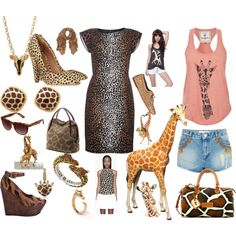 """Giraffe you"" by carolwatergirl on Polyvore"