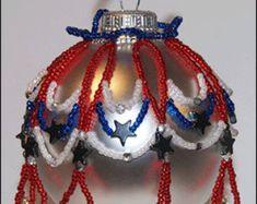 Patriotic Beaded Christmas Ornament Cover
