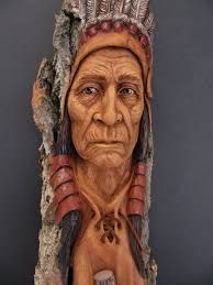 Image result for carving faces in wood