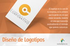 No permitas que tu #logotipo sea diseñado con plantillas, recuerda una de las cosas más importantes cuando buscas posicionarte en el mercado. www.mediodigital.mx