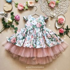 This cotton dress with flower print and pink tulle with bow on back made with love for your baby girl. In this frock used only high-quality and natural materials - tulle and printed organic cotton. This retro girl dress will be great outfit for 1st Birthday, Christmas, Easter or just for summer as a
