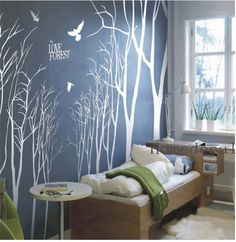 trees wall sticker Love the dark grey with the white:)