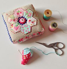 sweet strawberry pincushions - lovely little handmades