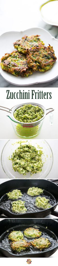 Have extra zucchini? Make zucchini fritters! Made with freshly grated zucchini, egg, flour, and herbs, these fritters are easy. Serve with a garlicky lemony sour cream dipping sauce. On SimplyRecipes.com
