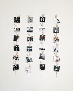 Nice vertical variation on a classic clothespin Square Print display by @faleciaparker with an added shoutout to @bayleebreanna.