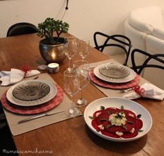 Marsala table setting
