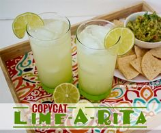 Copycat Lime-A-Rita Recipe from thatswhatchesaid.net  Perfect for #cincodemayo!  #drinks