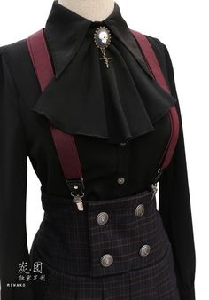 But I would use real suspender buttons that are more historically accurate. < I agree, it would be cute. #gothicfashion,