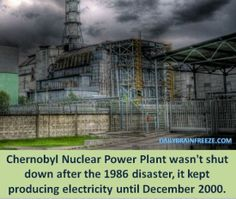 Chernobyl...wow did not know this about the power plant