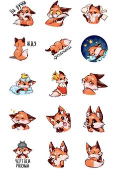 Contest Entry for Fox Illustration - New 10 poses/positions Cute Fox Drawing, Cute Animal Drawings, Animal Sketches, Kawaii Drawings, Cute Drawings, Fox Spirit, Fox Illustration, Fox Tattoo, Fox Art