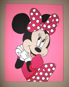 Does your little girl love Minnie Mouse? This listing is for 1 hand painted Minnie Mouse canvas room sign with free personalization. Just convo me