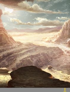 Desert Canyon by Concept-Art-House.deviantart.com on @DeviantArt