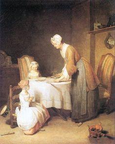 saying grace, Chardin, 1744