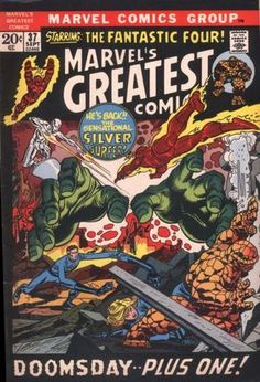 Marvel's Greatest Comics #37, reprints Fantastic Four #50. Cover by Gil Kane. The 1970s; Reprint City
