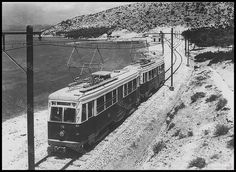 Piraeus-Perama light railway in Greece Old Pictures, Old Photos, Beautiful Places, Beautiful Pictures, Good Old Times, Light Rail, Athens Greece, Ancient Greek, Public Transport