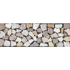 Anatolia - 4 In. x 12 In. Pebble Giallo Border - HD050 - Home Depot Canada