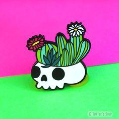 Pin Badge Enamel Cactus Large 40mm Hipster 90s Grunge Tumblr Birthday Gift