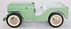 Vintage Tonka  Jeep  Pressed Steel Truck Toy Vehicle Green Metal #Tonka #jeep
