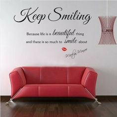 THE WISDEOM OF MARILYN MONROE - DECAL QUOTES: Sexy Lady MARILYN MONROE Quote Wall Sticker Art Decal Home Decor Vinyl Mural