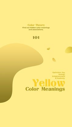 Are you taking a step towards a brighter future and a better 2020? So are we! Let's tackle the rest of the year with a positive design project. A color as enlightening and joyful as yellow is the perfect way to start your journey. Let's dive right in by exploring some of its meanings and associations.  #Newspaper #WordPress #website #blog #yellow #color #colormeanings #visual #visually #webdesign #webdesigner Color Meanings, Color Theory, Optimism, Joyful, Newspaper, Design Projects, Exploring, Psychology, Meant To Be