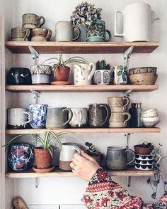 Ceramic mugs. Love the variety Ceramic mugs. Love the variety Ceramic mugs. Love the variety Ceramic mugs. Love the variety Home And Deco, Ceramic Mugs, Stoneware, Ceramic Bowls, Ceramic Art, Cozy House, Home Kitchens, Sweet Home, Indoor
