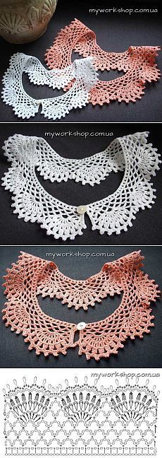 Breathtaking Crochet So You Can Comprehend Patterns Ideas. Stupefying Crochet So You Can Comprehend Patterns Ideas. Crochet Collar Pattern, Col Crochet, Crochet Lace Collar, Thread Crochet, Crochet Scarves, Crochet Motif, Crochet Shawl, Crochet Designs, Crochet Clothes