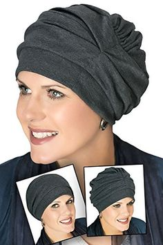 100% Cotton Trinity Turban - 3 Looks! Chemo Hats for Cancer Patients