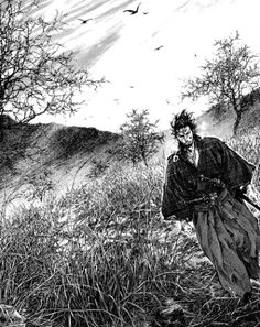 "A description of tropes appearing in Vagabond. A seinen manga about the legendary ""sword saint"" Musashi Miyamoto, said by many to be the greatest samurai of … Vagabond Manga, Art Anime, Manga Art, Manga Anime, City Hunter, Inoue Takehiko, Miyamoto Musashi, Tv Tropes, Samurai Armor"