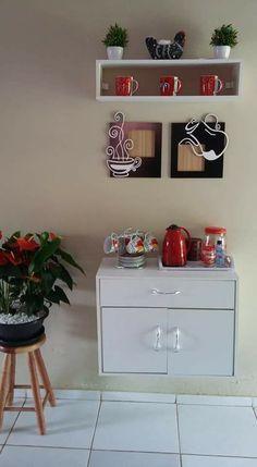 Coffee Bar Home, Coffee Corner, Coffee Shop, Kitchen Wall Art, Kitchen Decor, Vintage Cafe, Bar Furniture, Wood Table, Interior Design Living Room