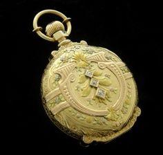 Men's 1913 Hamilton Tri-Color Gold Hunter Case Pocket Watch | Strickland Vintage Watches