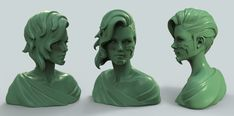 Tribute to Danny Luvisi and LMS - Green Clay Bust by HazardousArts.deviantart.com on @deviantART