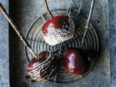 Kandiserte epler Cherry, Desserts, Food, Mat, Winter, Caramel, Tailgate Desserts, Winter Time, Deserts