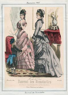 Casey Fashion Plates Detail | Los Angeles Public Library Journal des Demoiselles Date:  Wednesday, December 1, 1875