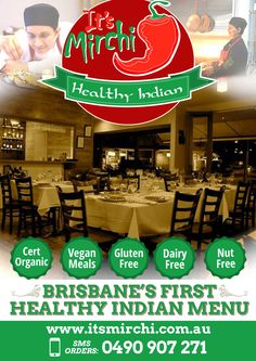 It's Mirchi Healthy Indian restaurant is arenowned destination in Brisbane for casual and fine dining, plus convenient takeaway. 'Healthy' has never tasted so good !