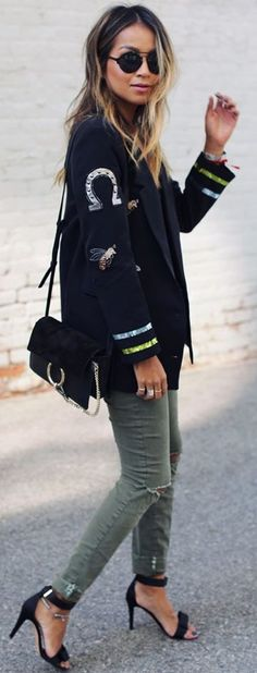 Patched Up Fall Street Style Inspo by Sincerely Jules