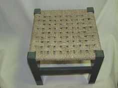 Seagrass Checkerboard Pattern Footstool , many many ways to weave a chair seat