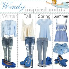 Winter, Fall, Spring, and Summer outfits inspired by Wendy