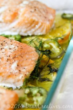 Baked Salmon _ Salmon in a baking dish_Theresa Huse 2013